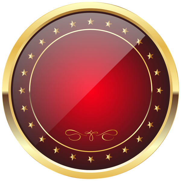 Gold badge png. Red and template transparent
