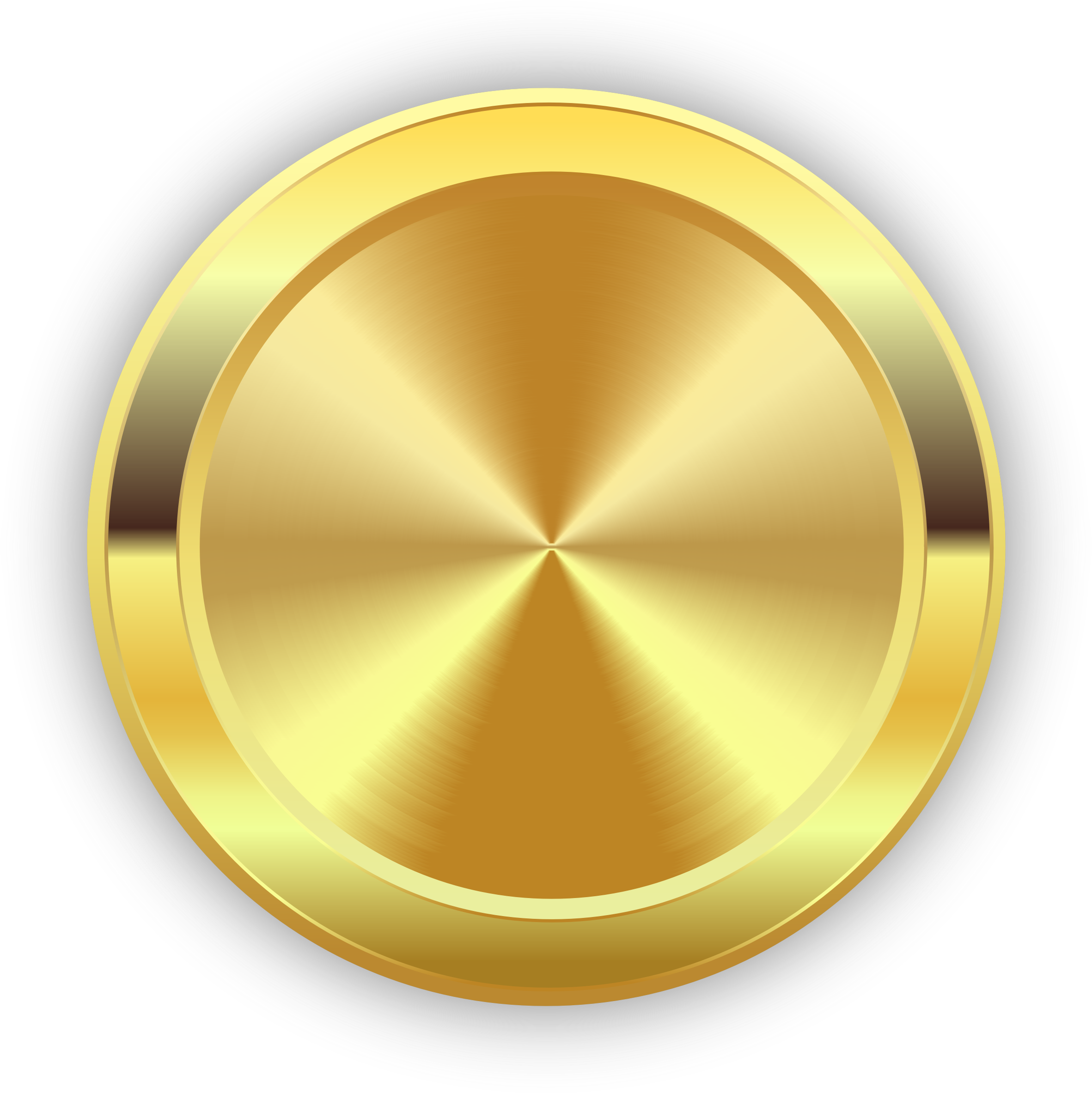 Gold badge png. Round golden icons free
