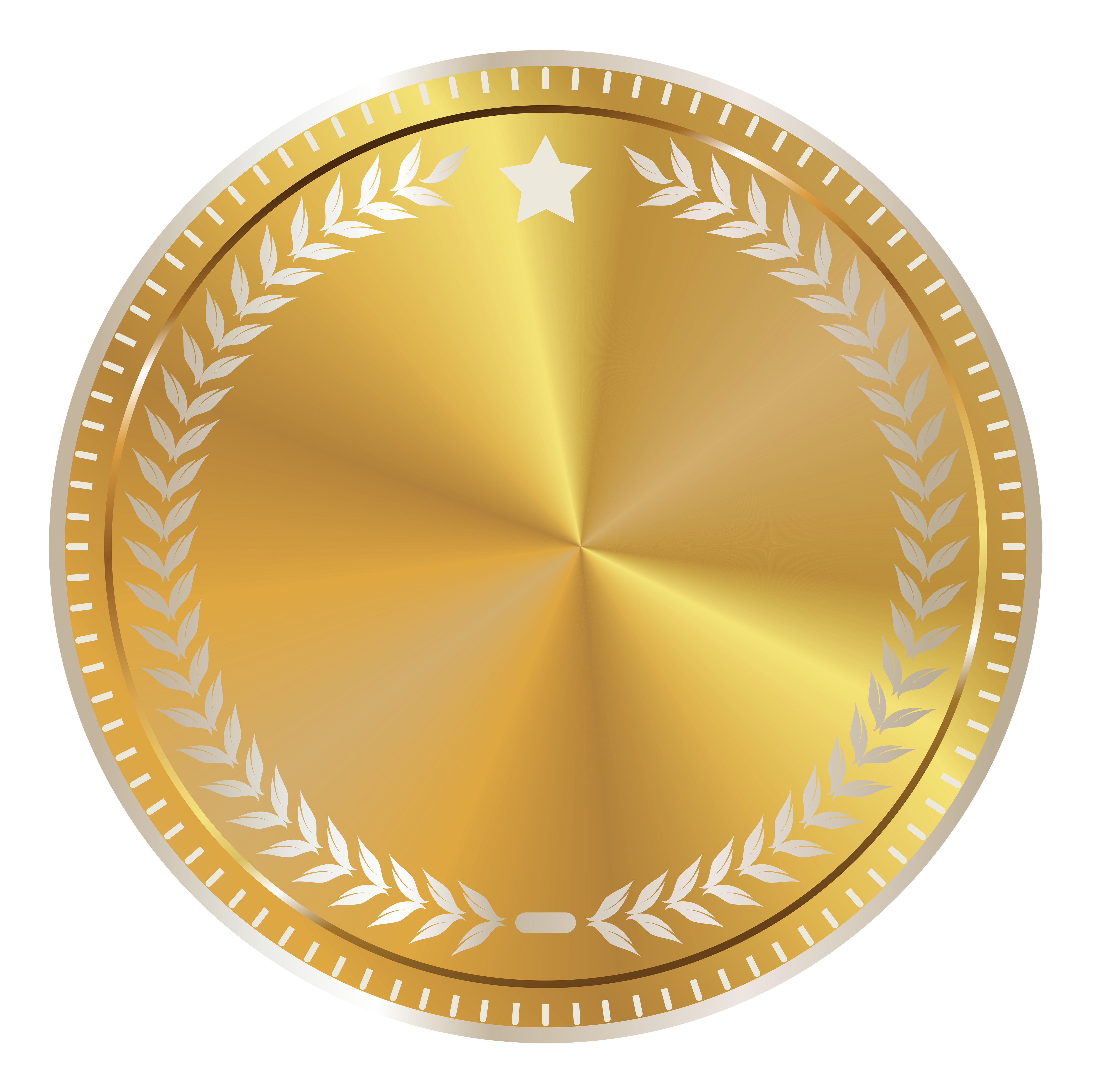 Gold badge png. Seal with decoration clipart