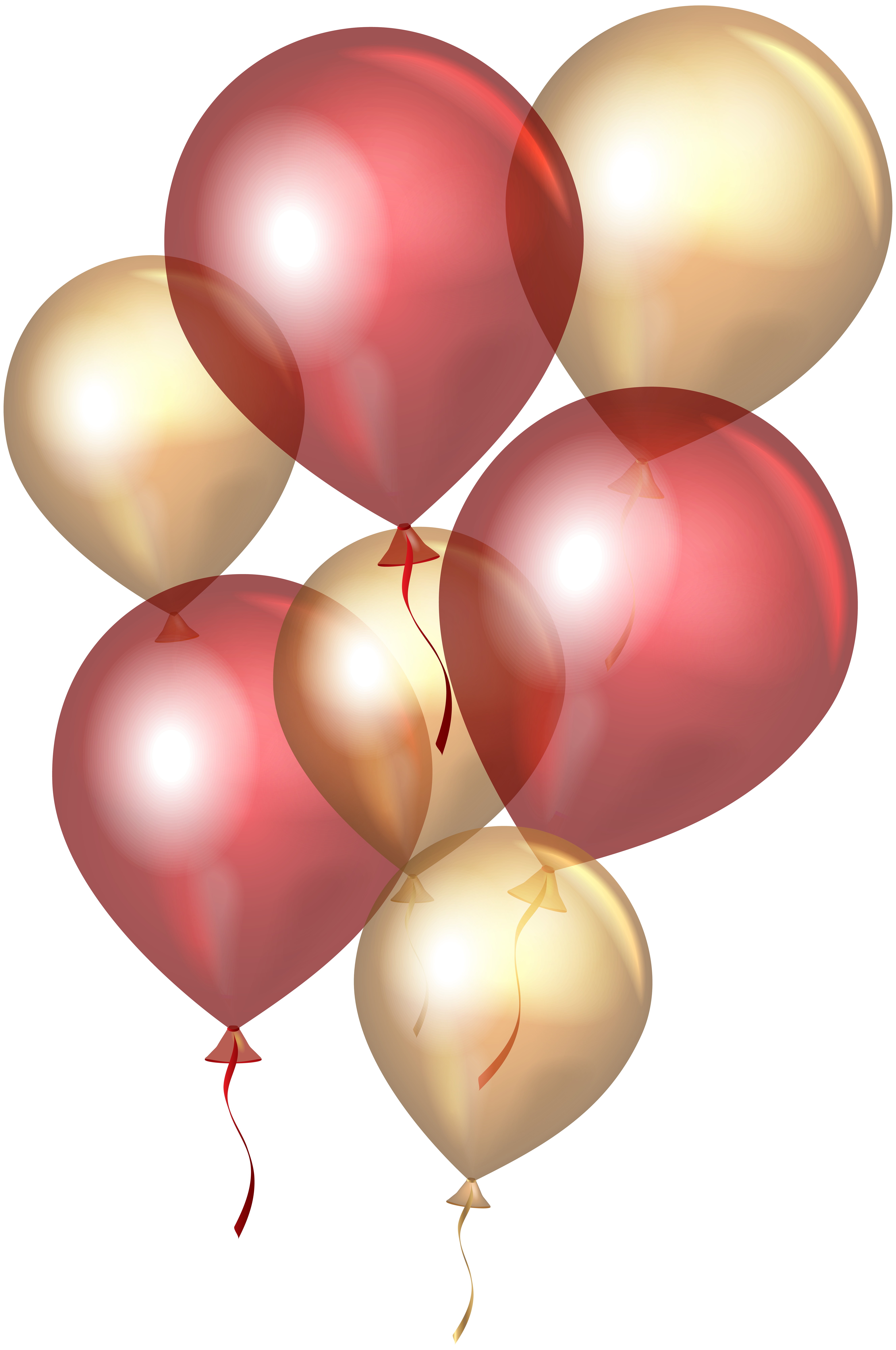 Gold balloons png. Transparent red clip art