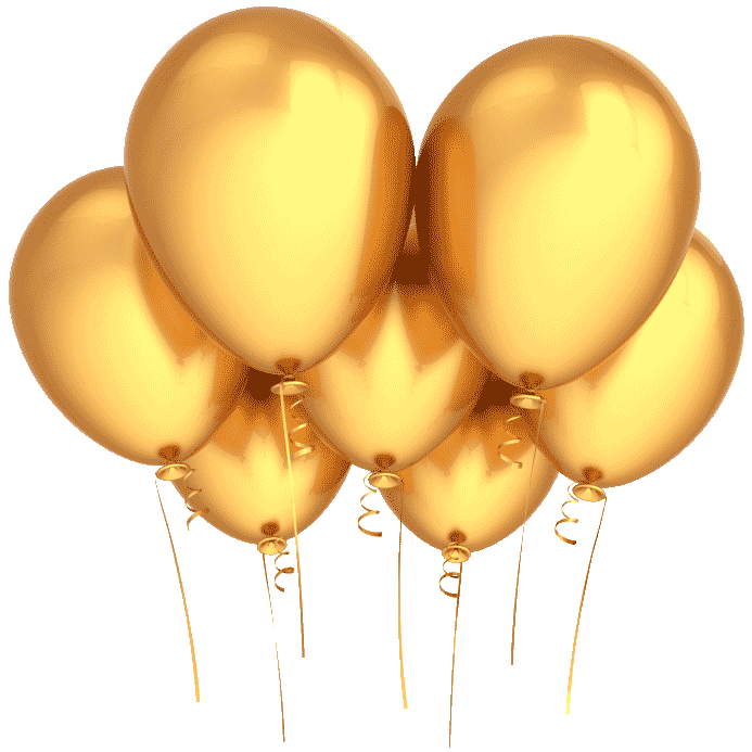 Gold balloons png. Party luxe goldpartyballoons
