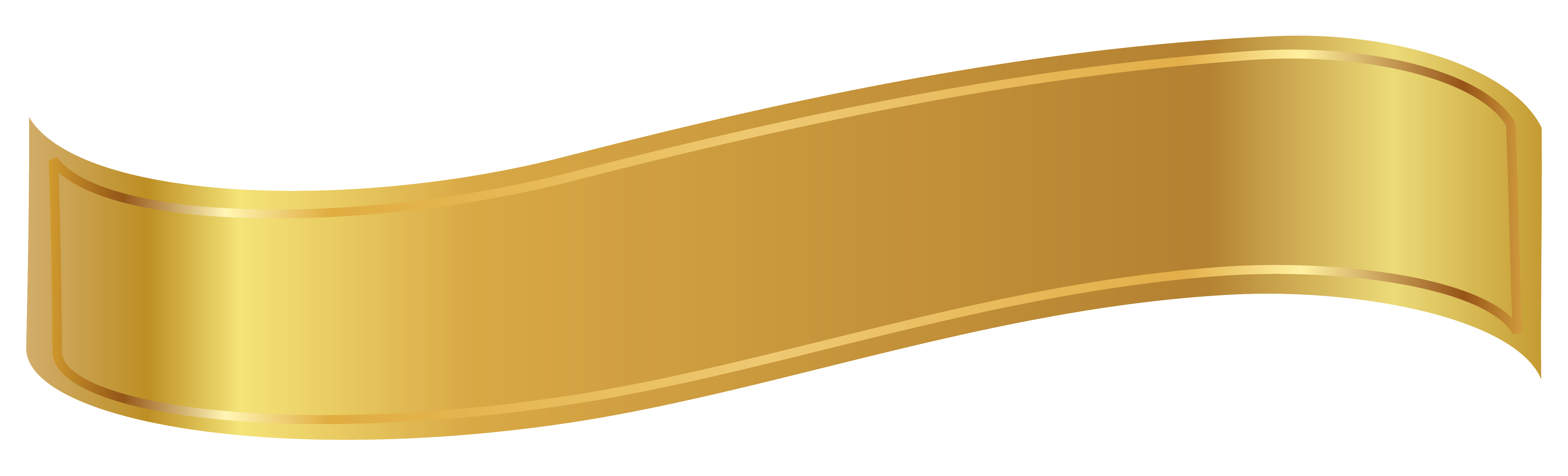 Gold ribbon png. Banner clipart image banners