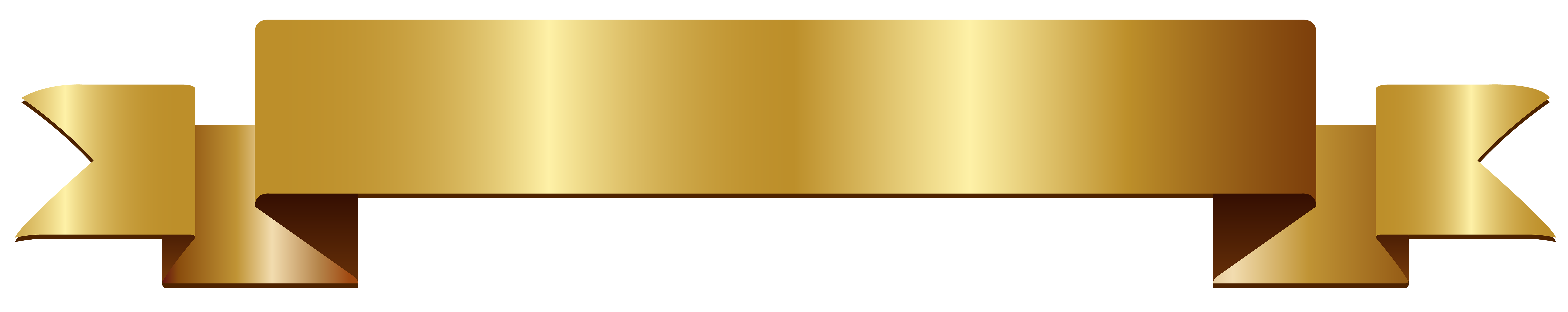 Gold banner ribbon png. Transparent clip art gallery
