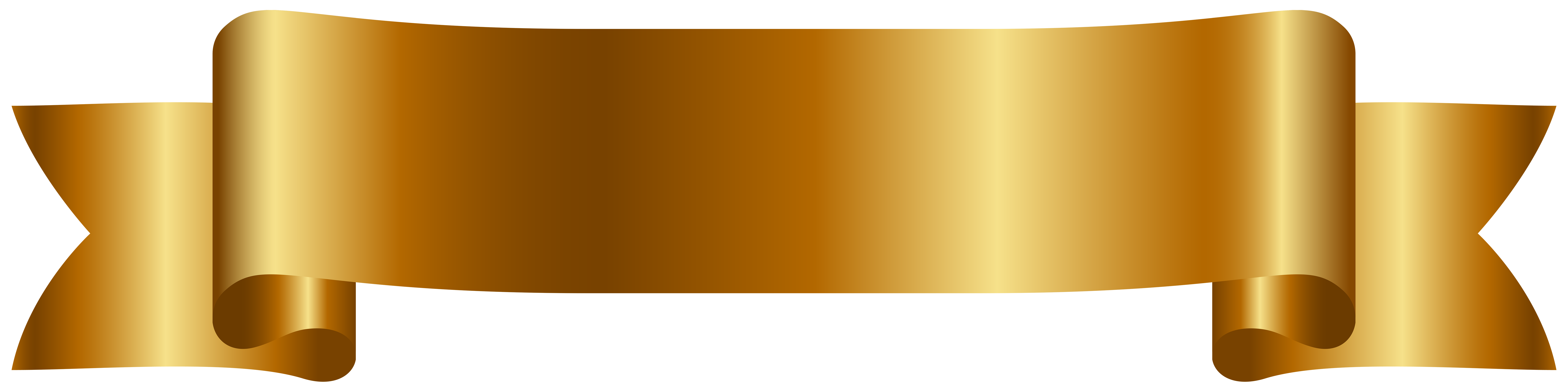 Gold banner ribbon png. Cyberuse golden cliparts free