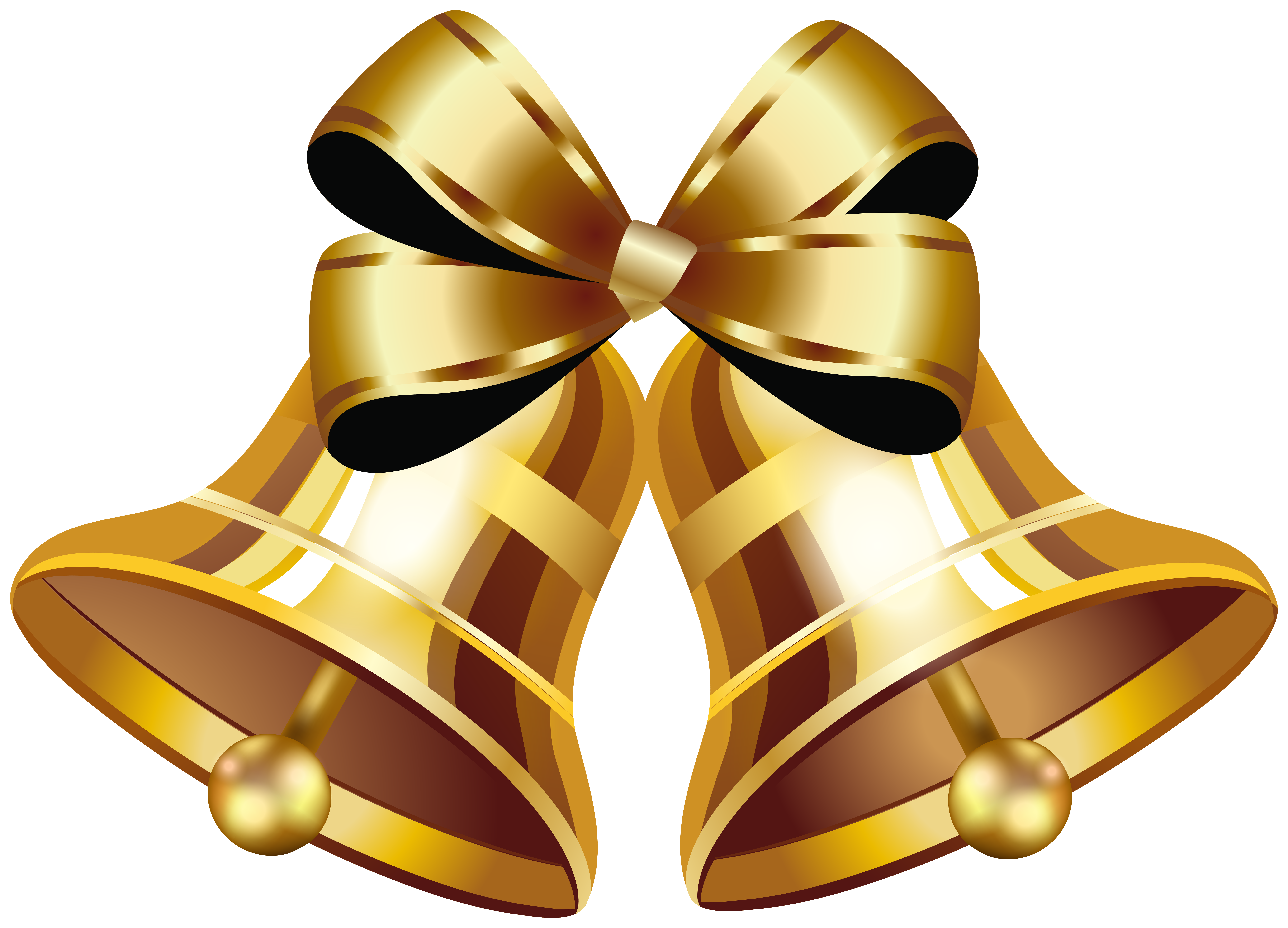 Gold Christmas Bell Image Transparent Png Clipart Free