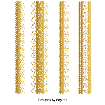 Bunting vector lace. Gold png images vectors