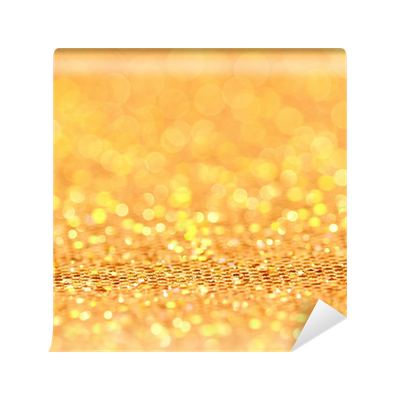 Gold bokeh png. Christmas blinking background wall