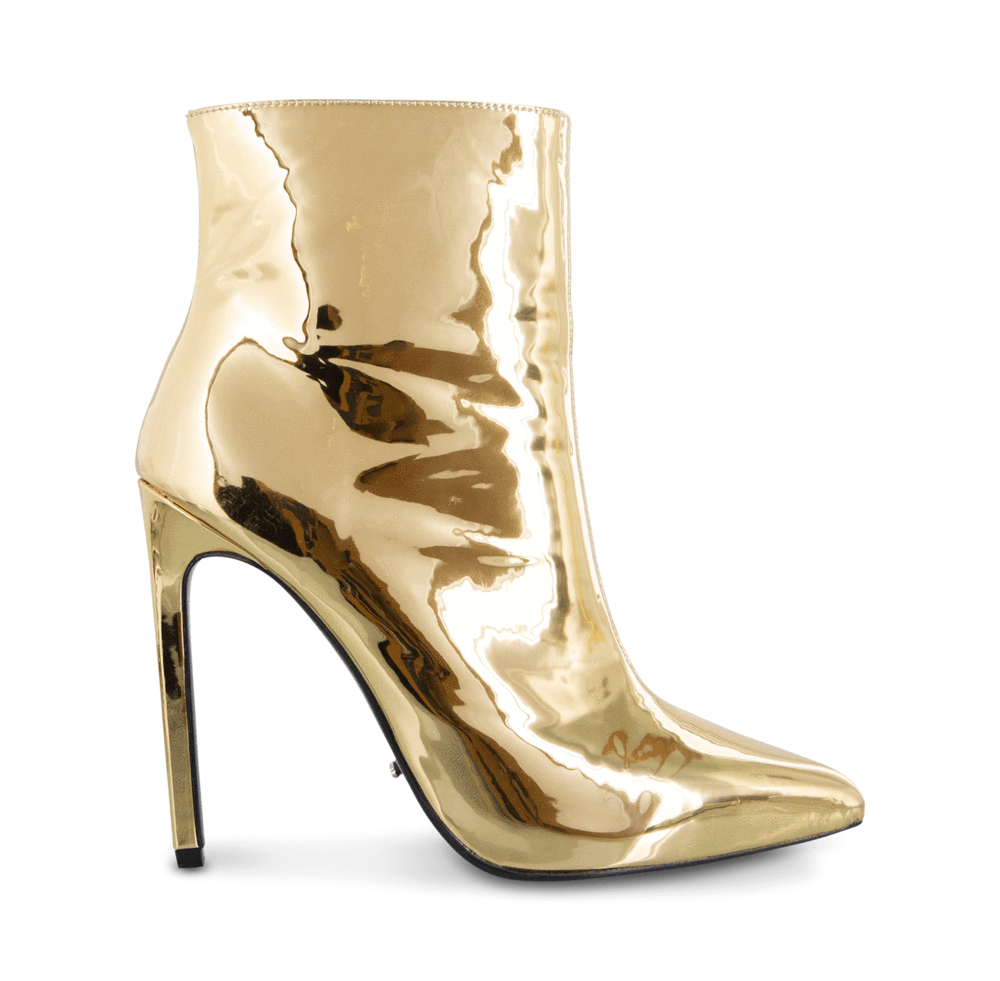 Gold boots png. Freddie metallic shine ankle