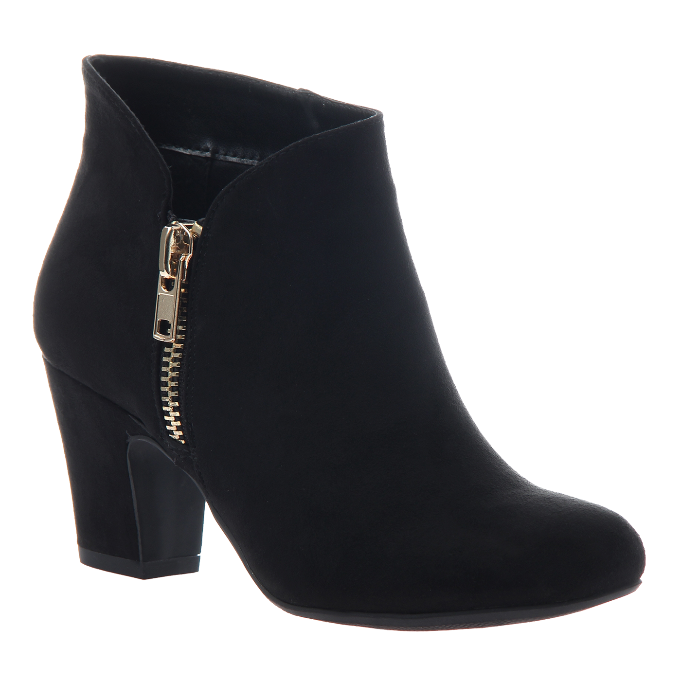 Gold boots png. Plump in black fabric