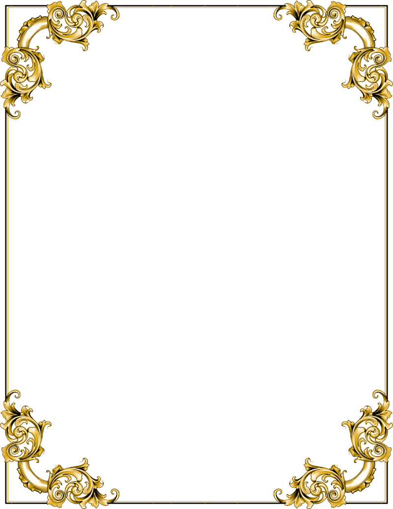 Gold border design png. Download free frame transparent
