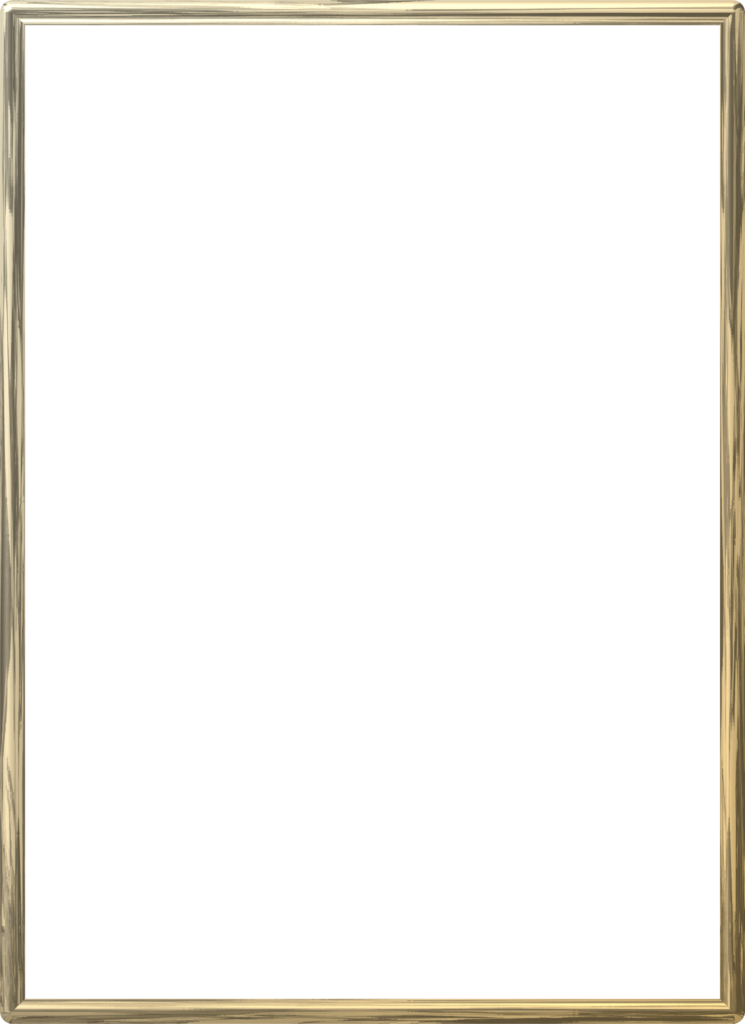 Gold border png. Frame photo vector clipart