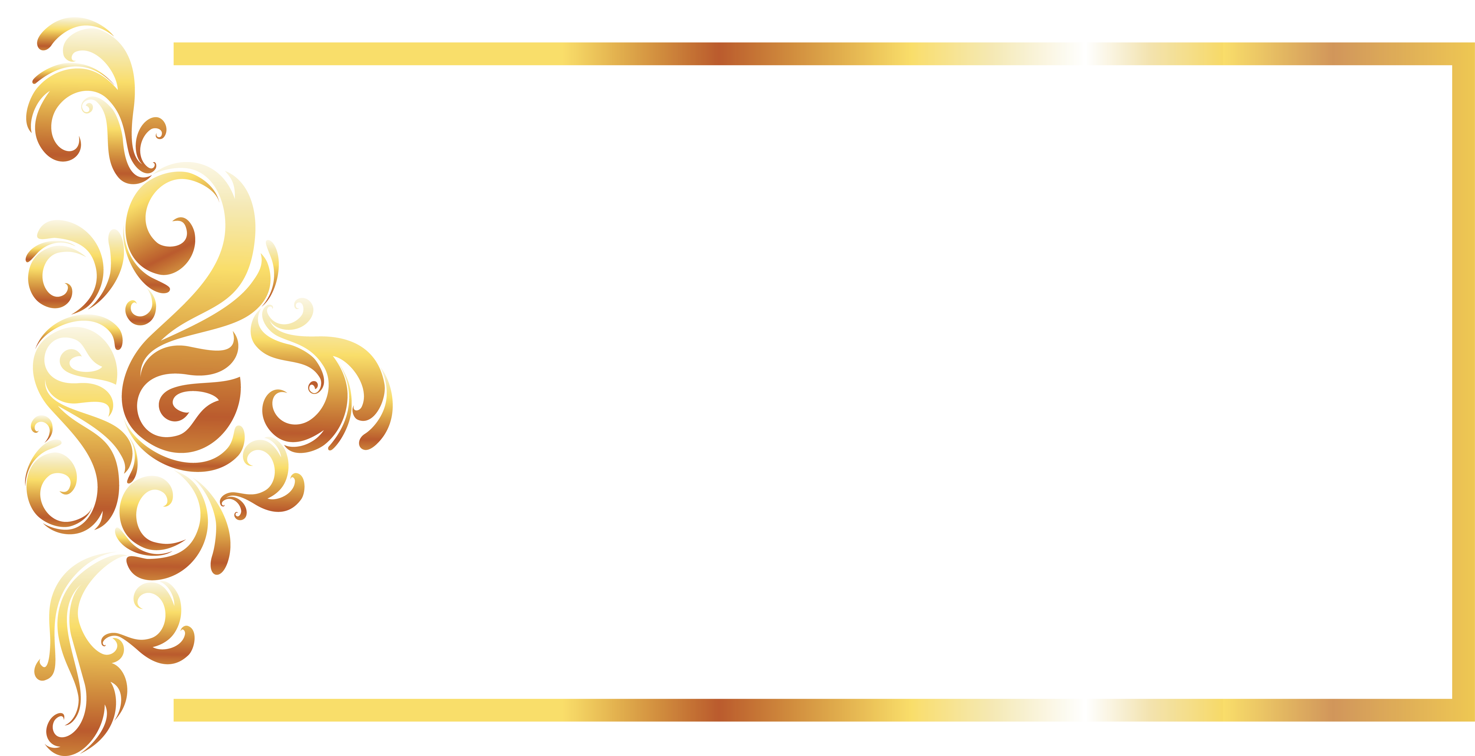 Gold border png. Yellow recreation pattern line