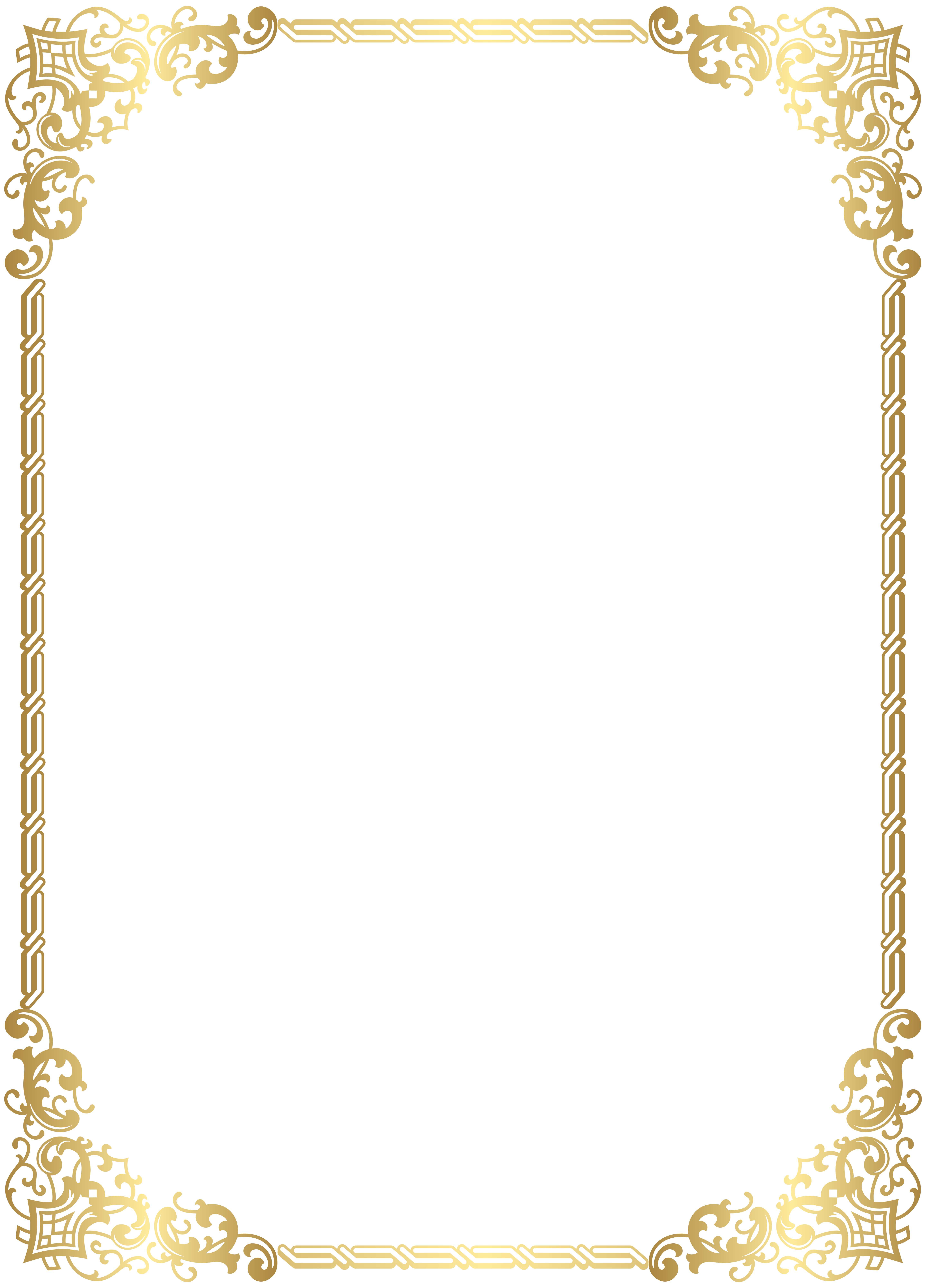 gold decorative lines png