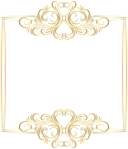 Gold border frame png. Clip art gallery yopriceville
