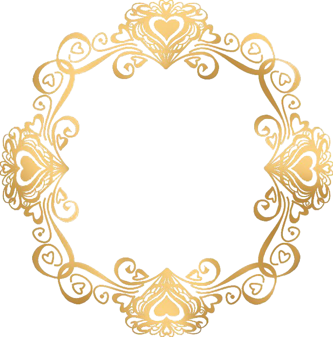 Gold wedding png. Invitation picture frame european