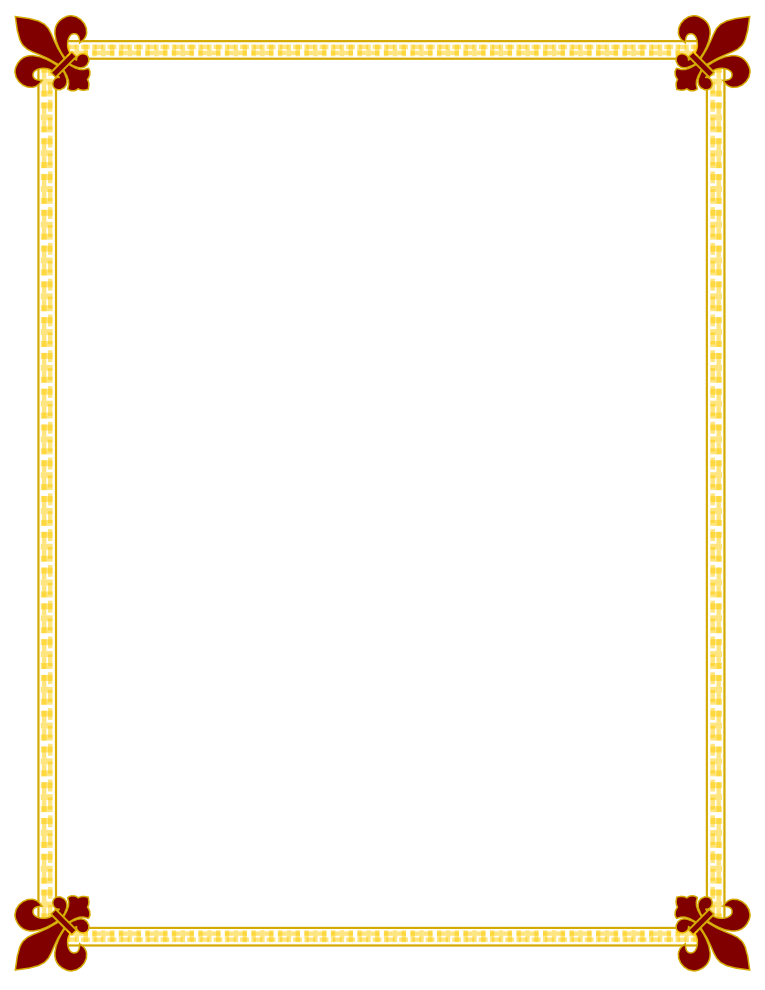 Modern vector certificate border. Free png download clip