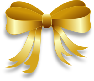 Golden ribbon png. Gold bow clipart