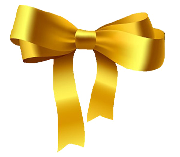 Gold bow png. Golden ribbon pic mart