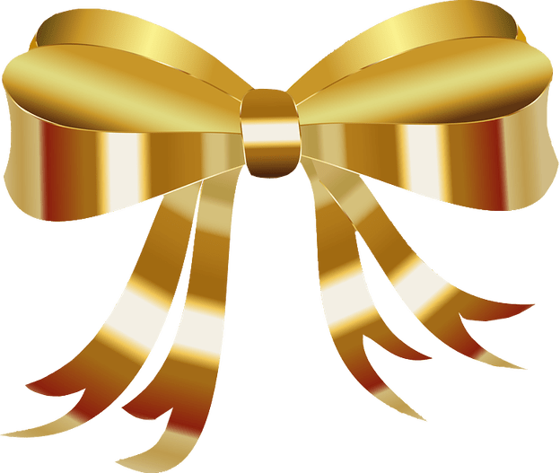 gold bow png