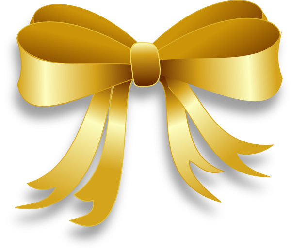 Gold bow png. Ribbon clip art at