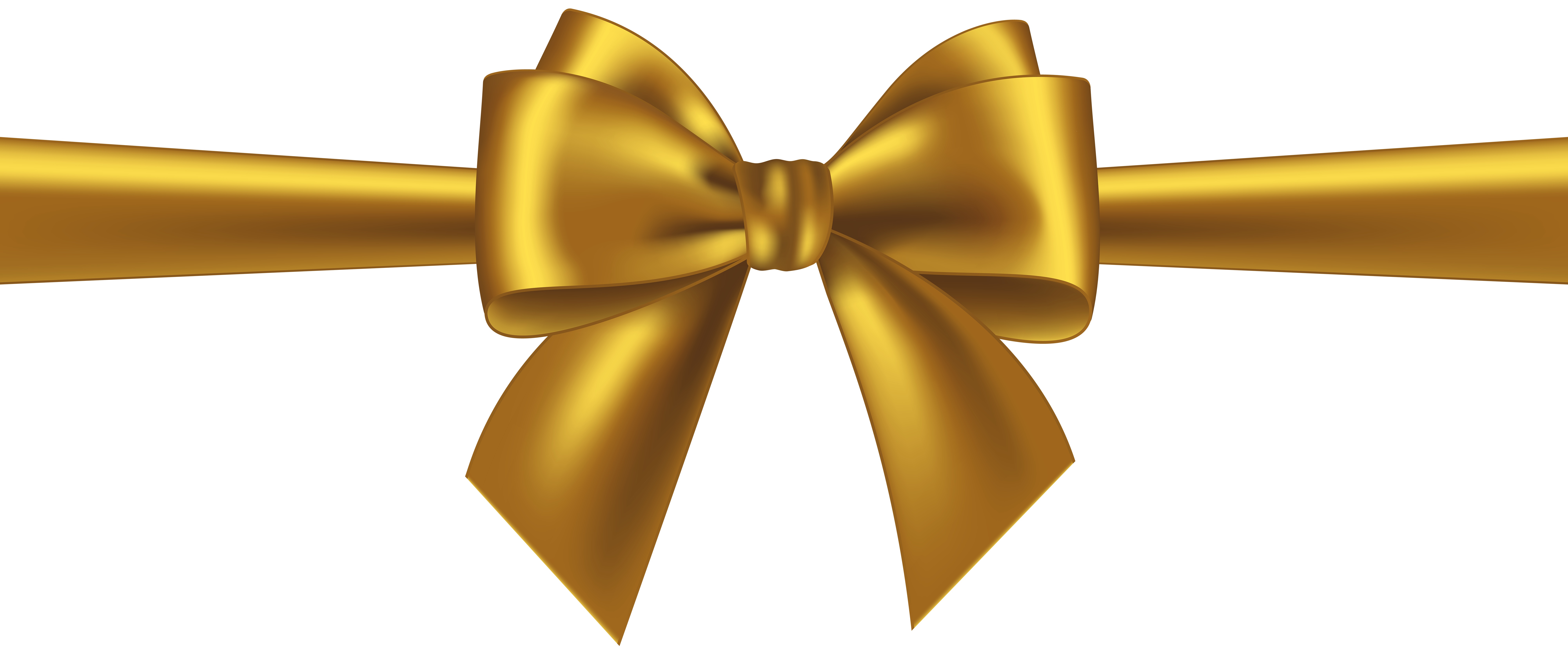 Gold ribbon bow png. Transparent clip art gallery