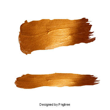 Gold brush stroke png. Vectors psd and clipart