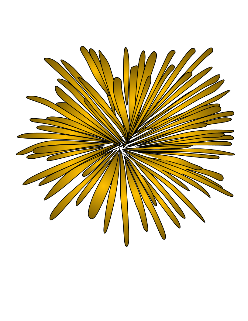 Fireworks clip burst. Clipartshare style gold yellow