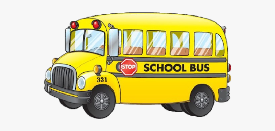 Yellow bus. Download for free png