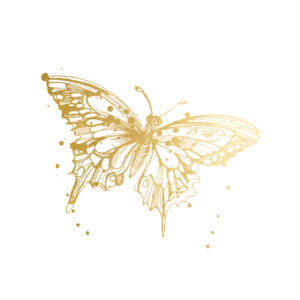 Gold butterflies png. Animals tagged tattly temporary