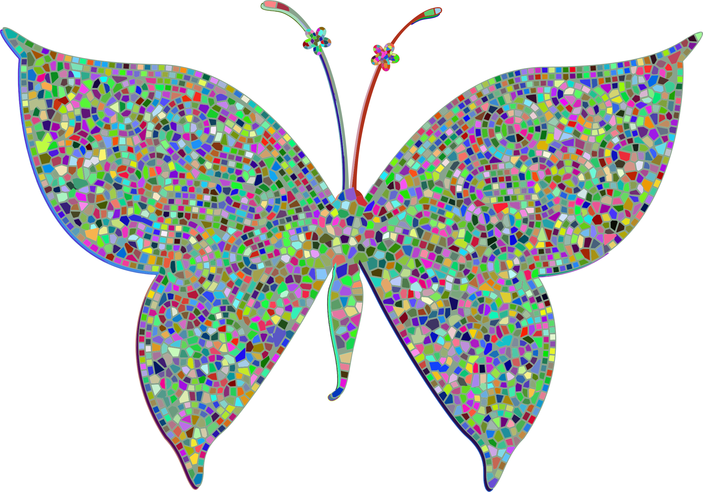 Gold butterflies png. Prismatic colorful tiled butterfly