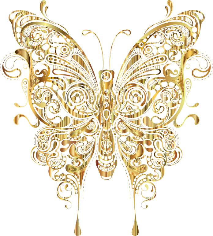 Gold butterfly png. Insect moth clip art
