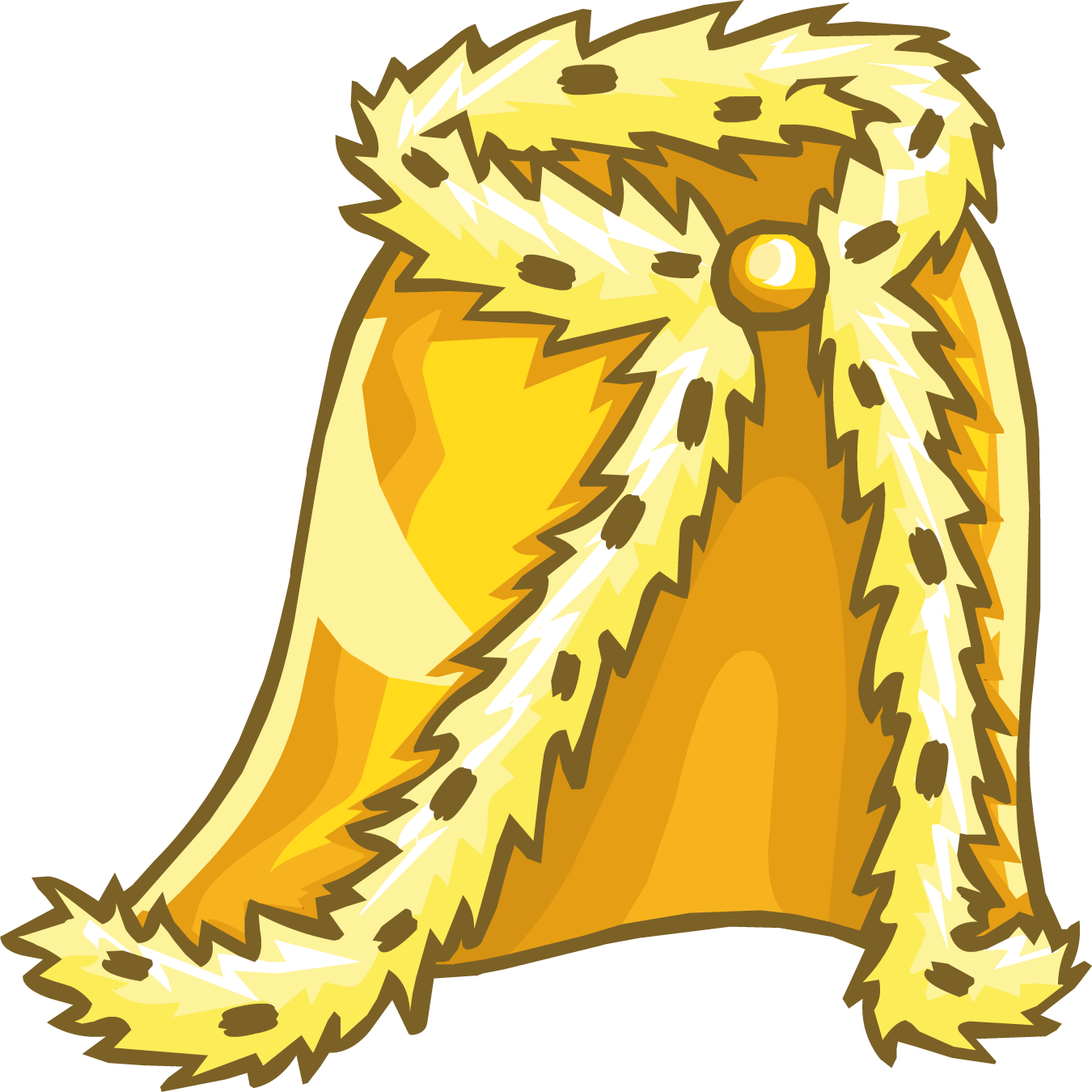 Gold cape png. Royal golden robe club