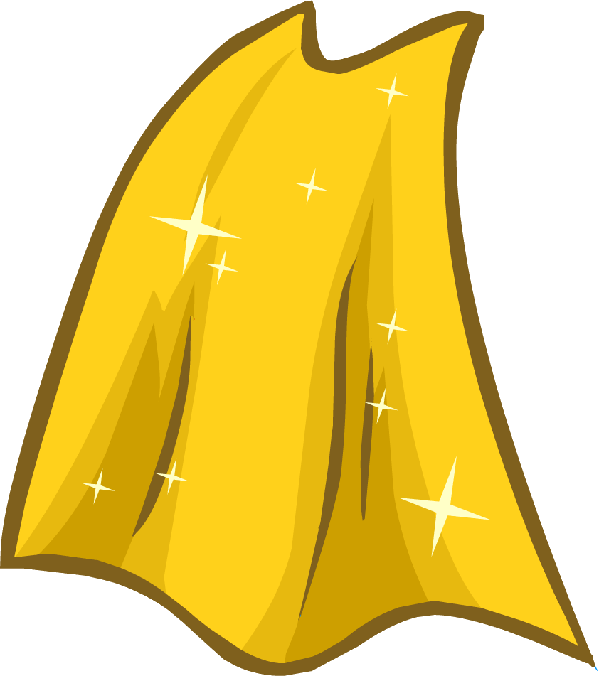Cape transparent gold. Image icon png club