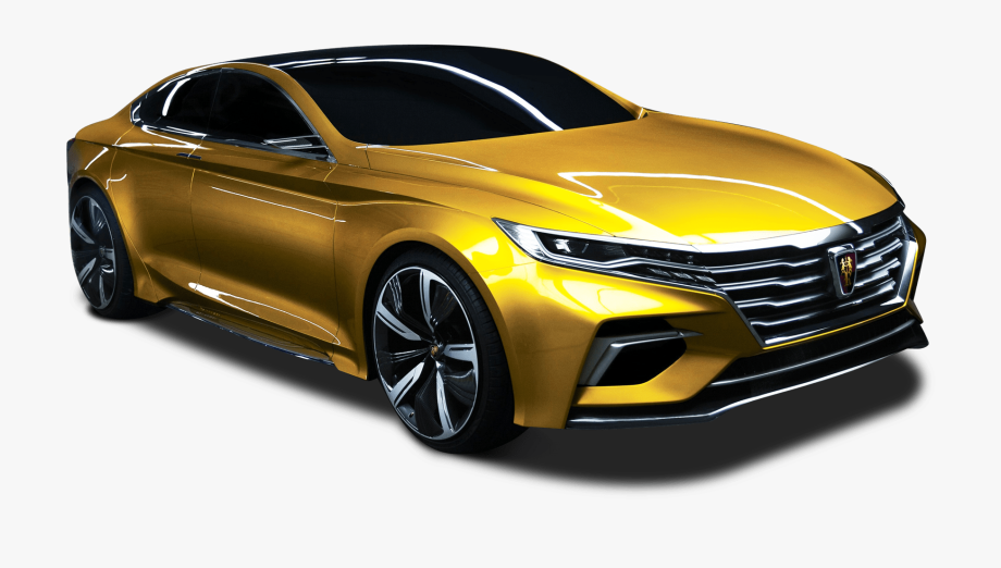 Gold car. Image png yellow color