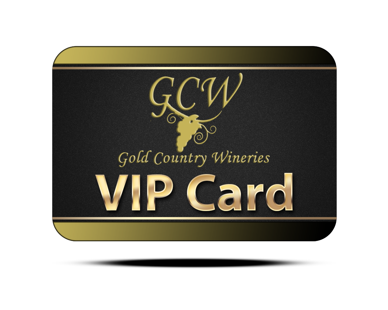 Gold card png. Country wineries vip wine