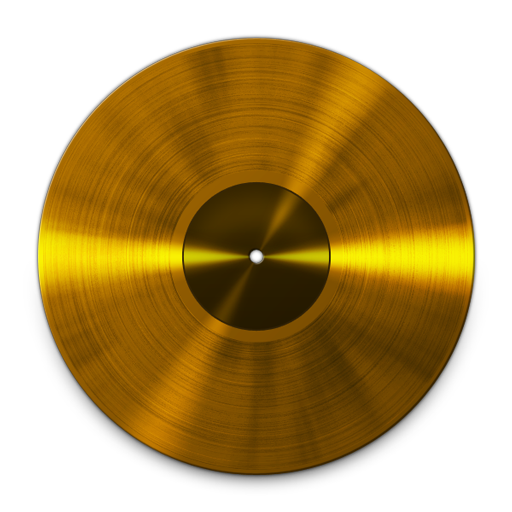 Gold record png