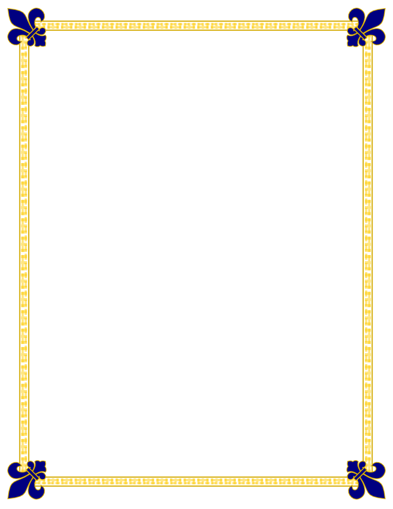 Gold certificate border png