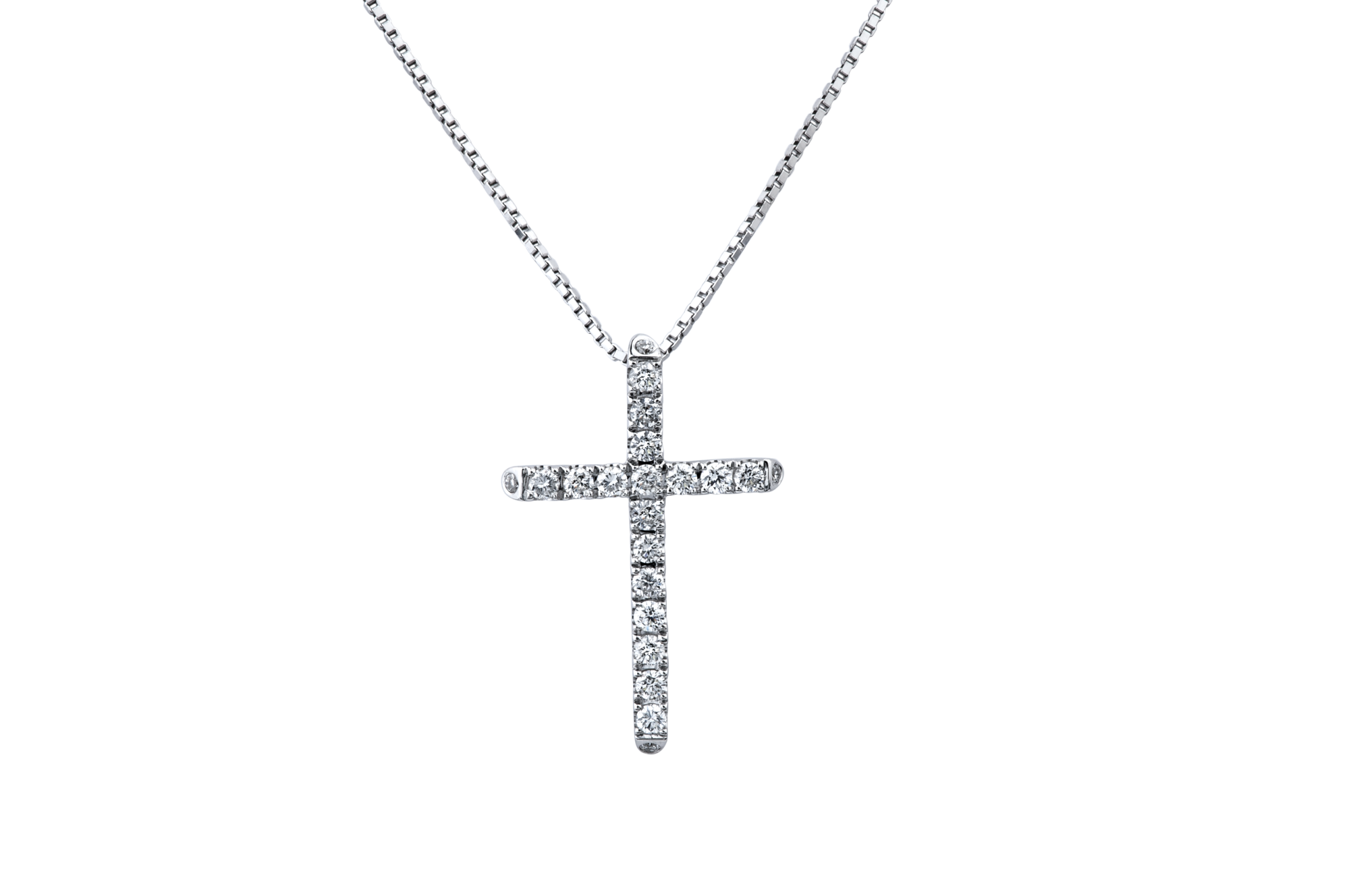 Cross necklace png. K white gold