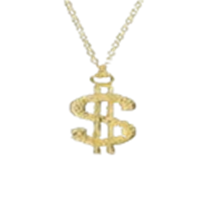 Dollar transparent gold chain. Sign roblox