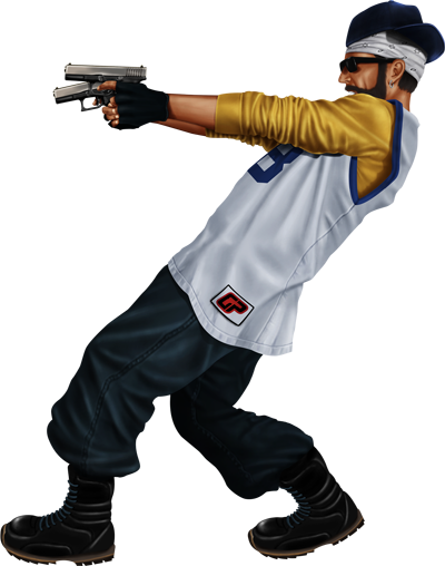 gangster with gun png