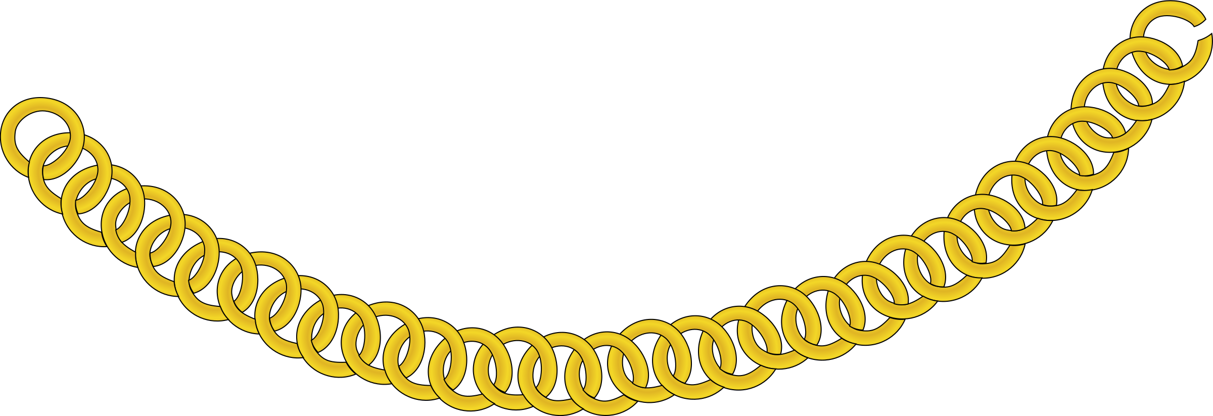 Choker drawing chain. Gold icons png free