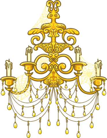 gold chandelier png