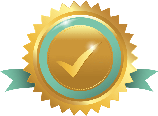Gold check mark png. Download star ribbon with