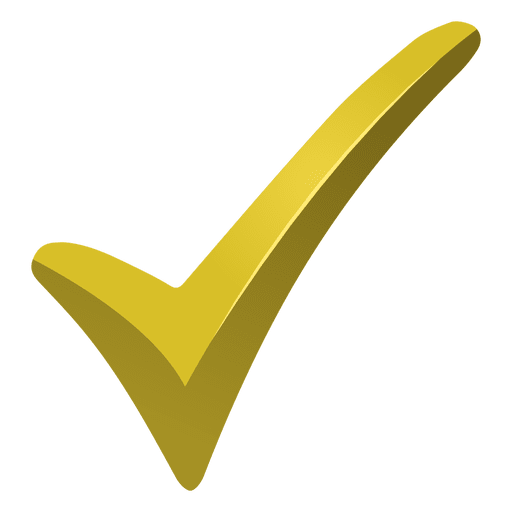 Gold check mark png. Transparent or svg to