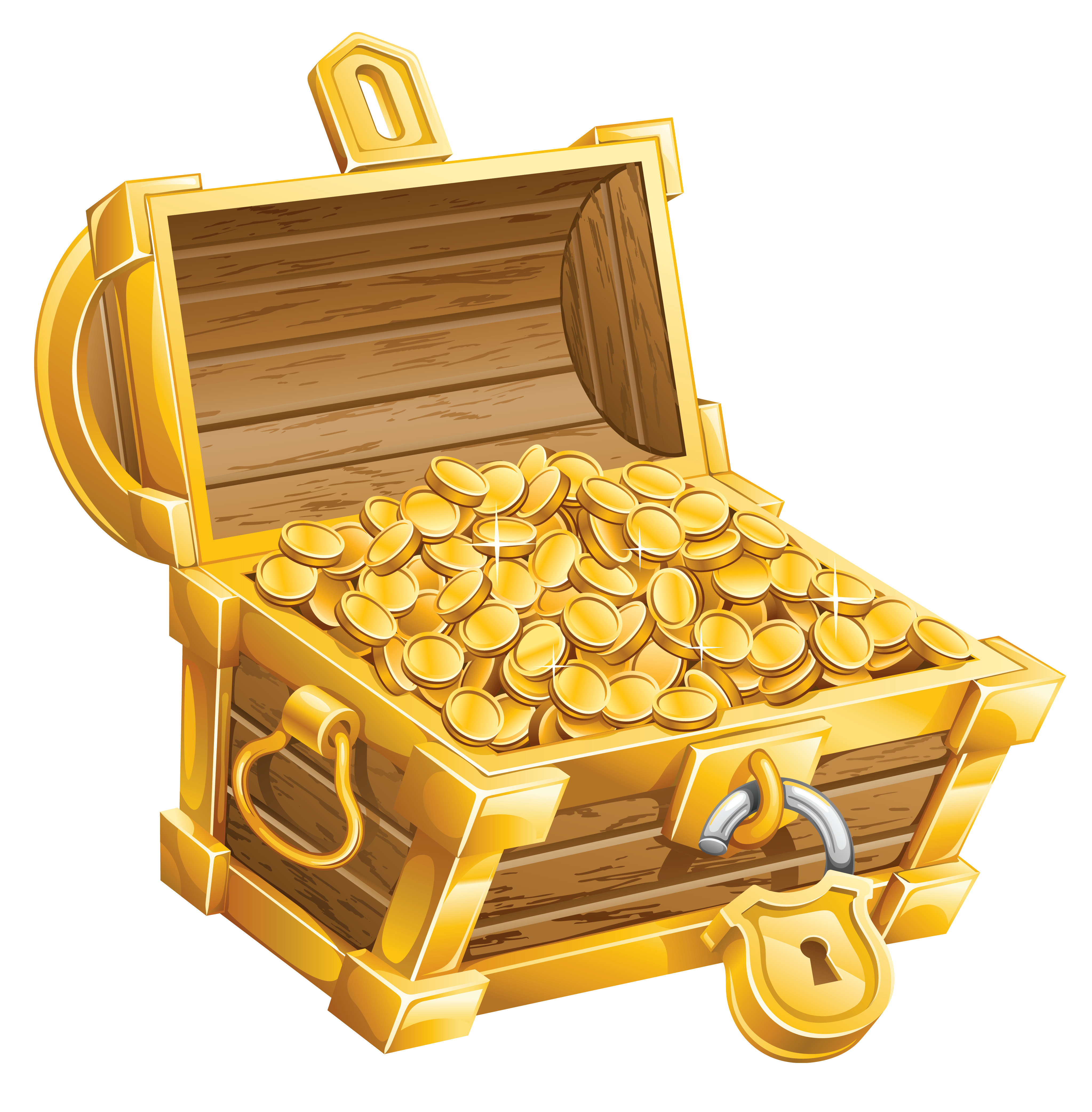 Gold chest png. Buried treasure clip art