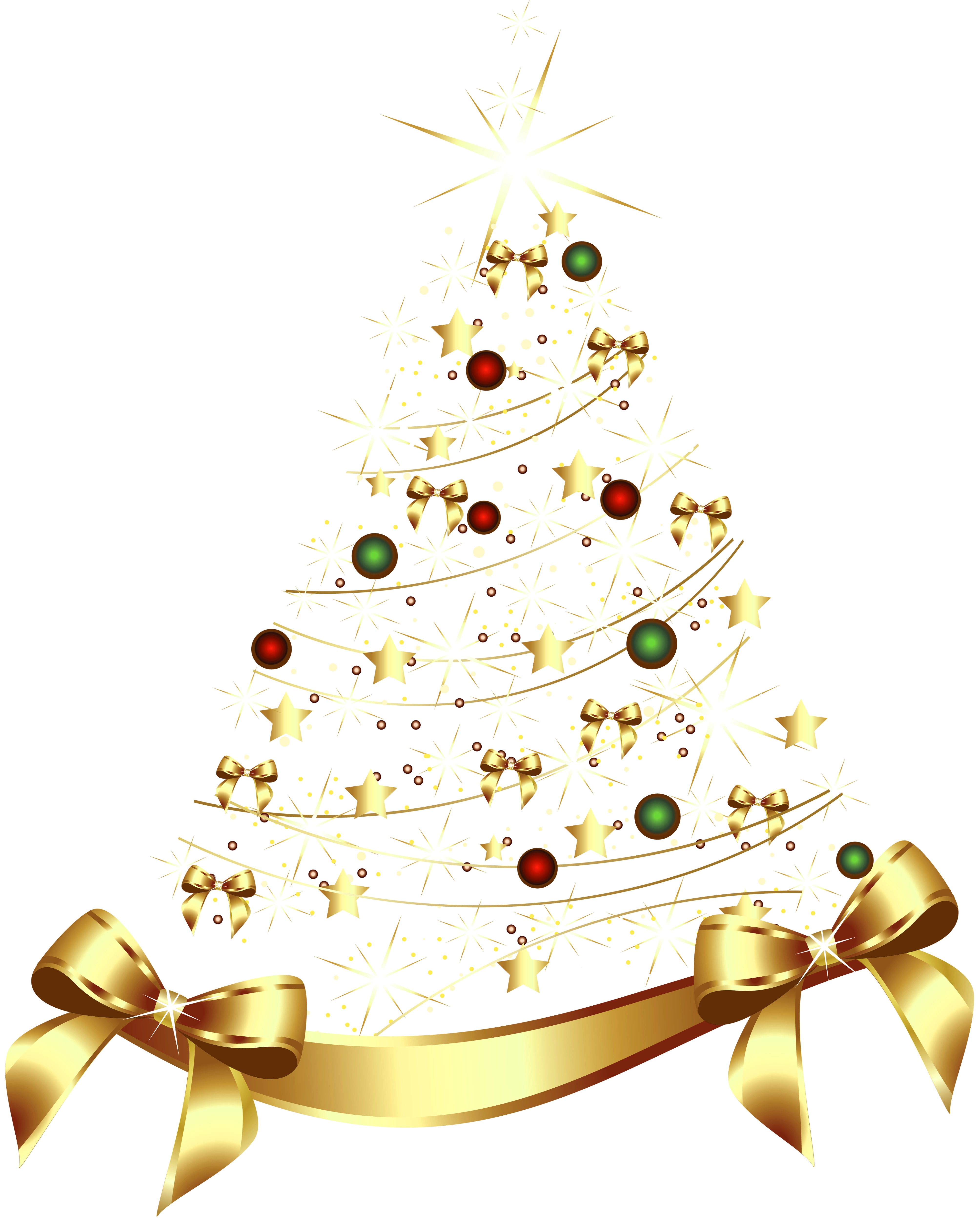 Christmas ornaments png gold. Large transparent tree with