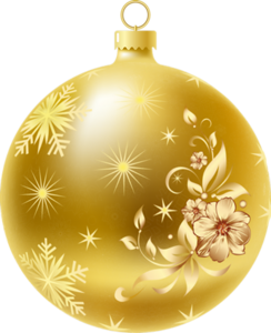 Gold christmas ornaments png. Merry stickers natale pinterest