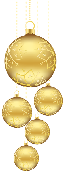 Gold christmas ornaments png. Gallery