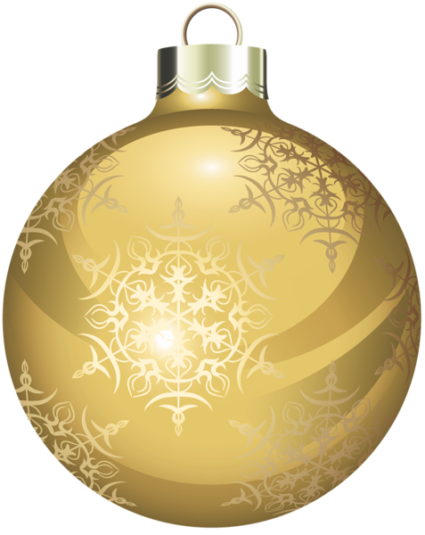 Gold christmas ornaments png. Transparent ball clipart hobby