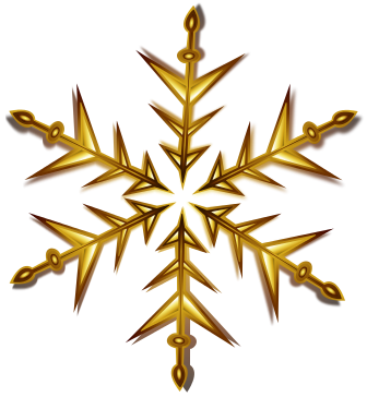 Gold christmas ornaments png. Snowflake holiday decorations download